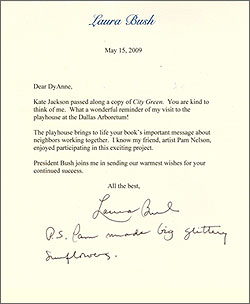 Letter from Laura Bush